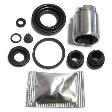 Bremssattel Reparatursatz + Kolben HINTEN 34 mm Rep-Satz Dichtsatz HA