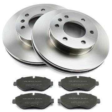 pastillas de freno delantero para Mercedes Sprinter /& VW Crafter 2 discos de freno ø300mm