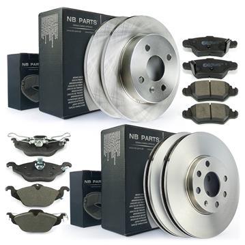 bremsscheiben 4 loch bremsbel ge vorne 256mm hinten 240mm. Black Bedroom Furniture Sets. Home Design Ideas