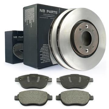 bremsscheiben 283mm bremsbel ge vorne citroen c3 c4. Black Bedroom Furniture Sets. Home Design Ideas