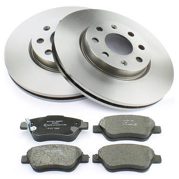 Bremsscheiben 257mm 2x Bremssattel Bremsbeläge vorne Opel Adam M13 Corsa D