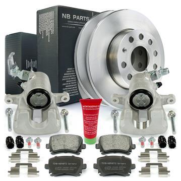 2x Bremssattel + Bremsscheiben + Bremsbeläge hinten