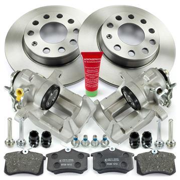 2x Bremssattel hinten Audi A4 B6 B7 Bremsscheiben Bremsen Set Bremsbeläge