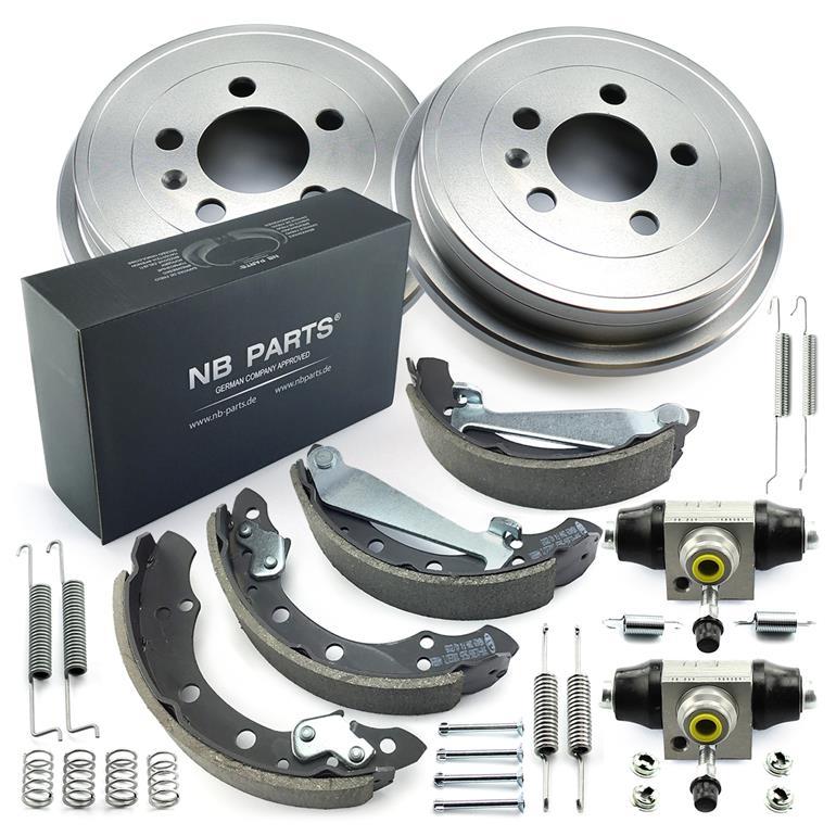 AISEN Bremsbacken Bremsbel/äge hinten f/ür REX RS 250 450 500 700 China Roller Gy6 50-150ccm